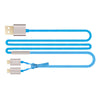 2-in-1 Zipper iPhone 6/5&Android phone USB Cable