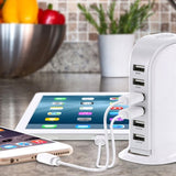 USB Hub: 6-Port USB Charging Station - 30 Watts