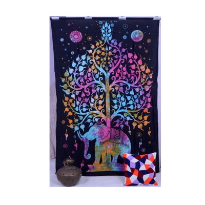 Elephant Tree Hanging Tapestry