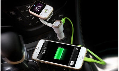 4-in-1 Wireless Car Kit: Bluetooth Receiver, FM Transmitter, Music Player & Charger