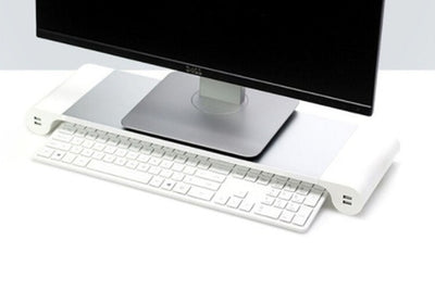 Aluminum Laptop and Monitor Stand with 4 USB Ports (US Only)