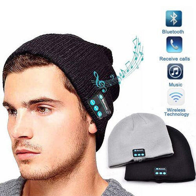 Bluetooth Beanie - Warm Hat with In-built Bluetooth Speakers and Mic