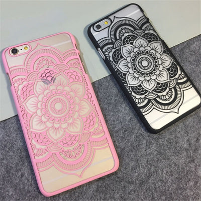 Beautiful Floral Mandala Flower Phone Case for iPhone 6/6/plus/7/7 plus