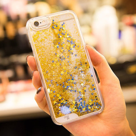 Golden Floating Glitter Case for iPhone 6 / 6 plus