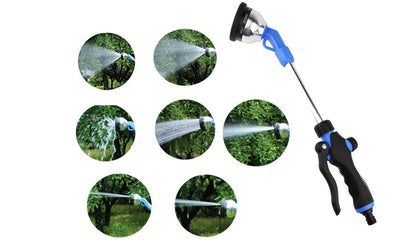 9-Function Car Wash And Gardening Pole Water Spray Gun
