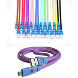 Android USB Cable with LED Light Smiley Face - 1 Meter