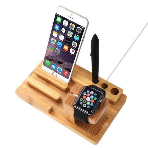 smart watch charging stand phone stand and stationery holder