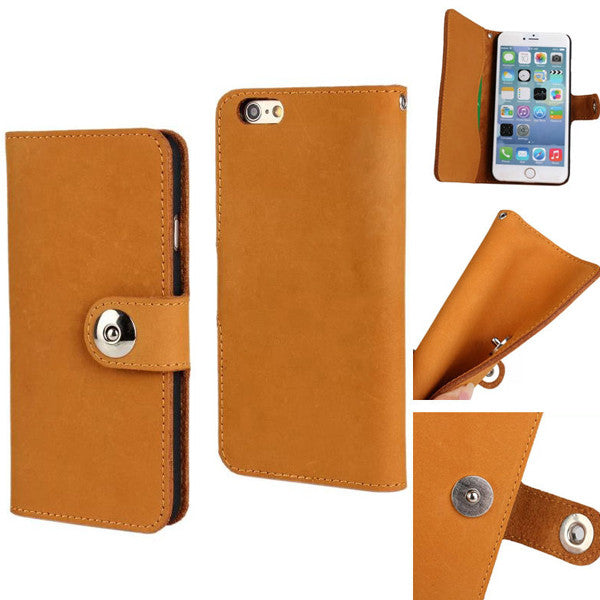 Cow Leather Wallet Case for iPhone 6 4.7""