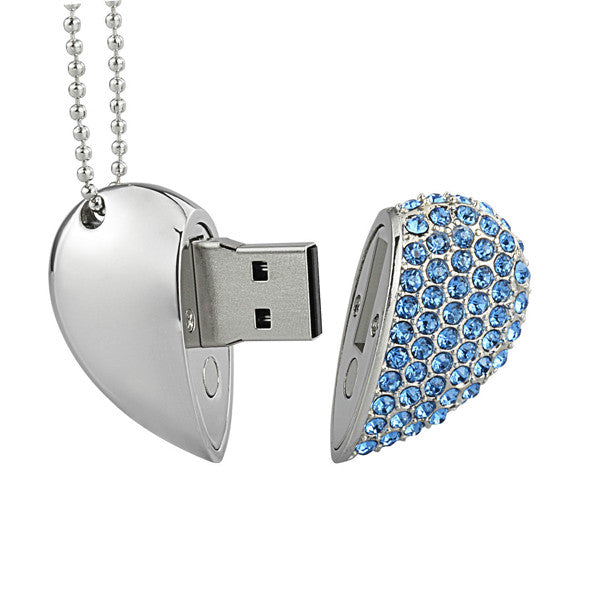 Diamond Heart USB 2.0 Flash Drive 32 GB  - Random Color