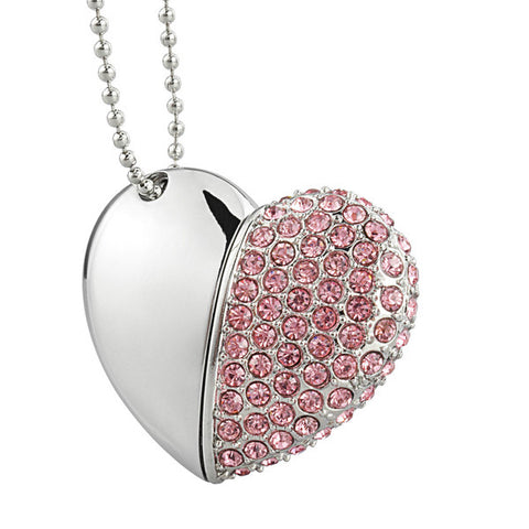 Diamond Heart USB 2.0 Flash Drive 64GB