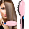 Ceramic Bristle LED Hair Straightener Brush