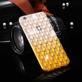 Lattice Print Crystal Studded Case for iPhone 6/6s or 6 Plus/6s Plus