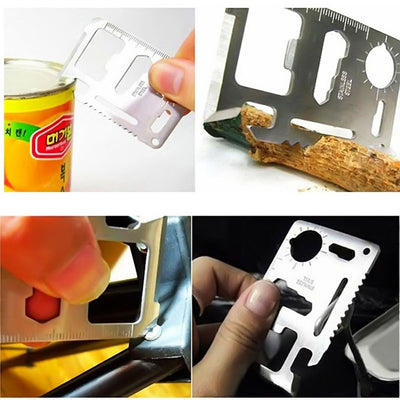 13-in-1 Credit Card Camping Hike Multi Purpose Survival Tool