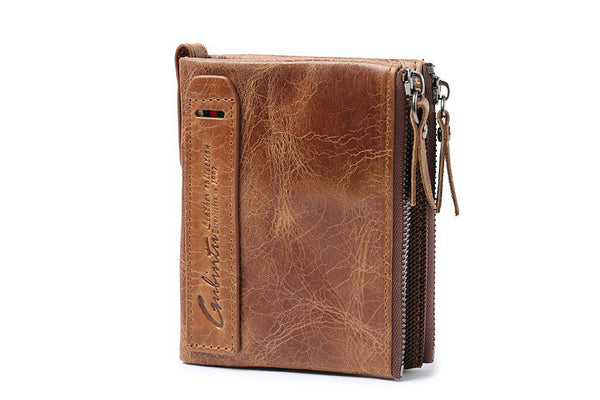 Men's Vintage-Inspired  Cow Hide Leather Wallet