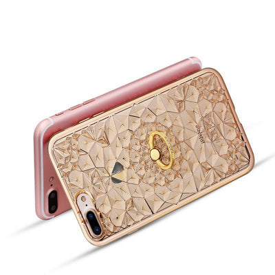 3D Diamond Glitter Case With Ring For iPhone 6/6plus/7/7plus