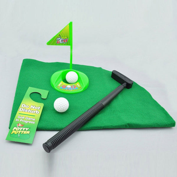 7 Piece 'Toilet' Golf Toy Set