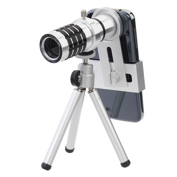 12x Zoom Telescopic Camera for Smartphones/iPhone With Tripod