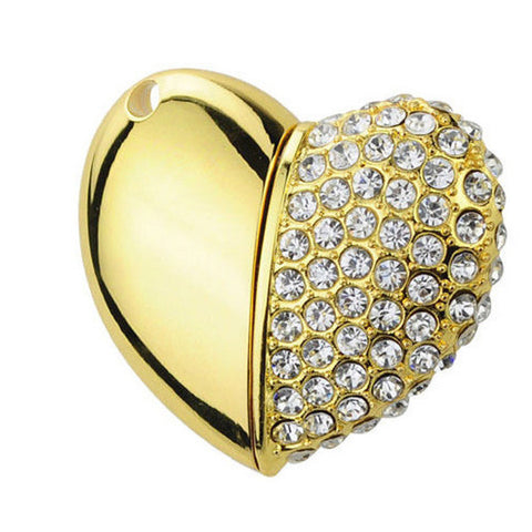 Heart Shaped Diamante Flash Drive / USB Memory Stick