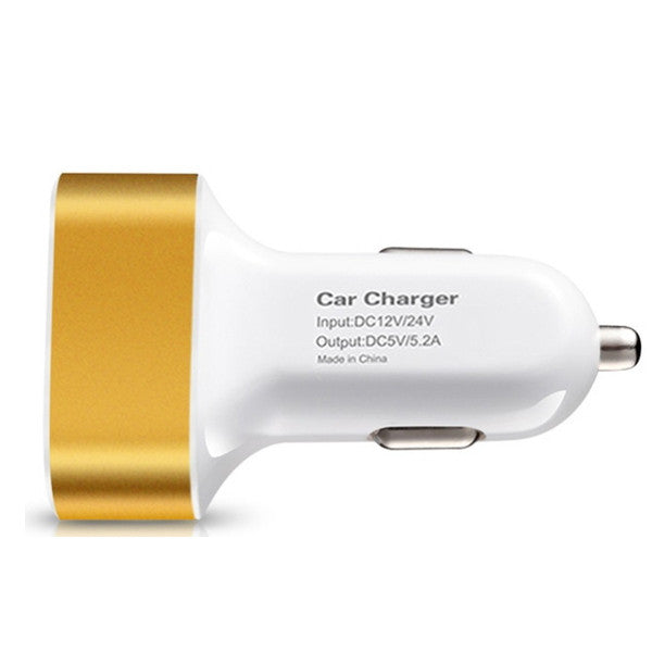 High-Speed 3 USB-Port Car Charger for Tablets & Smartphones