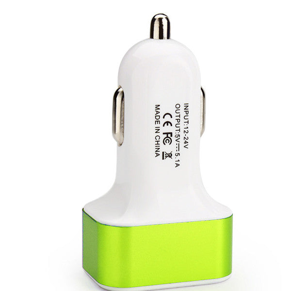 High-Speed USB Car Charger for Tablets and Smartphones