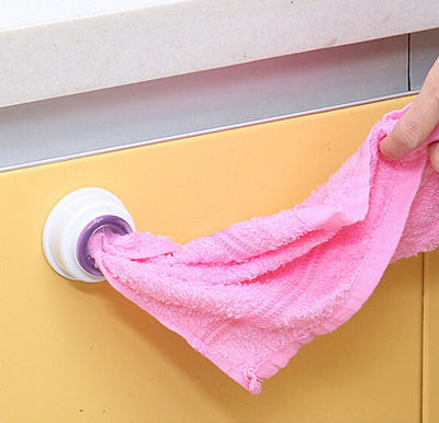 2-Pack Suction Wash Cloth / Towel Holder Clip