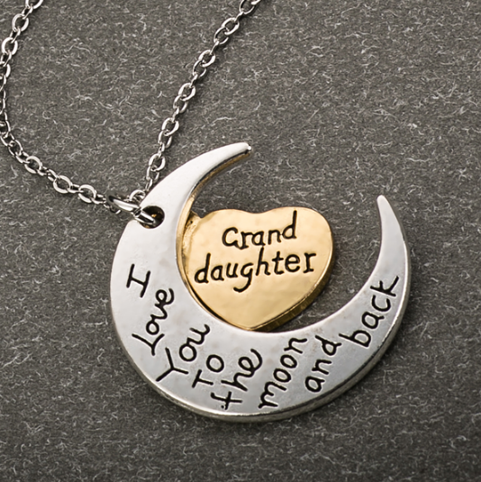 Moon And Back Grand Daughter Necklace