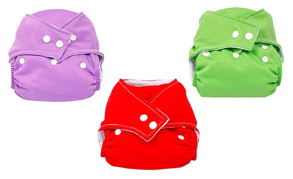 Reusable Cloth Diapers (3-Pack)