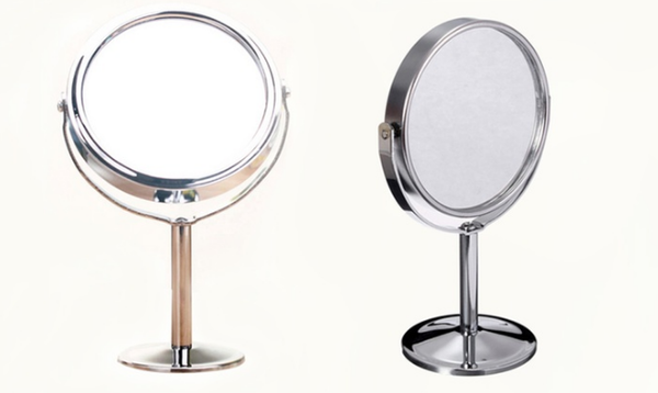 Small Metal Double Sided Mirror