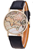 """Wanderlust"" World Map Watch"