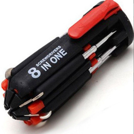 8-in-1 Multi-Screwdriver Tool with LED Torch