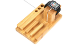 Bamboo Stand for Apple Watch and iPhone