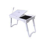 Multifunctional Laptop Table Stand with Built-in Cooling Fan and LED Light