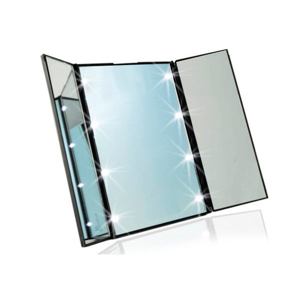 Foldable Vanity Mirror With LED Lights