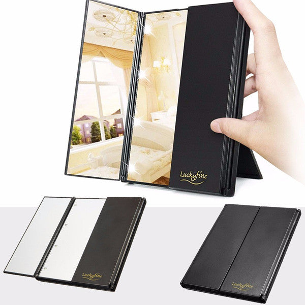 LED mirror foldable