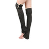 Women's Knit Button Up Leg Warmers with Lace Trim