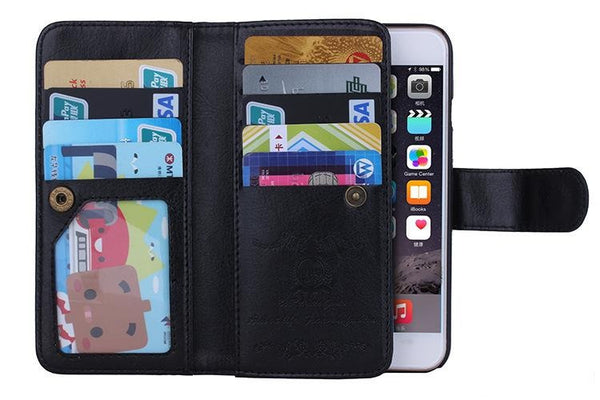 Magnetic Flip Practical PU Leather Wallet Case