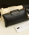 Faux-Leather Studded Wallet Women's Clutch Wallet Wristlet