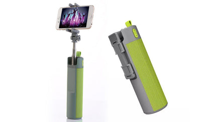 4-in-1 Wireless Selfie Stick, Bluetooth Speaker, Phone Mount and Power Bank (US Only)