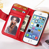 PU Stand Leather Case for Samsung S5