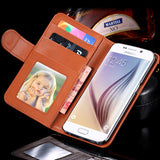 PU Wallet Leather Case for Samsung S6