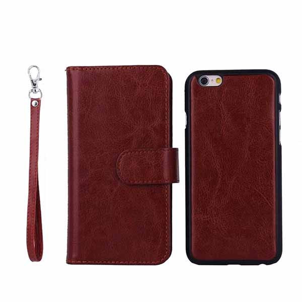 DETACHABLE LEATHER FLIP WALLET CASE