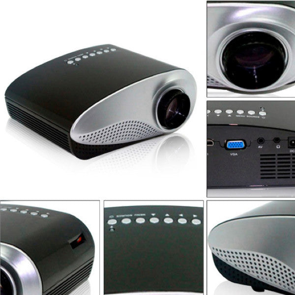 Sleek and Portable Mini Projector Home Theatre (USA only)