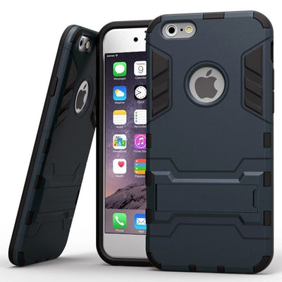 Shockproof Rubber Case with Stand for iPhone 6/6s, 6 Plus/6s Plus