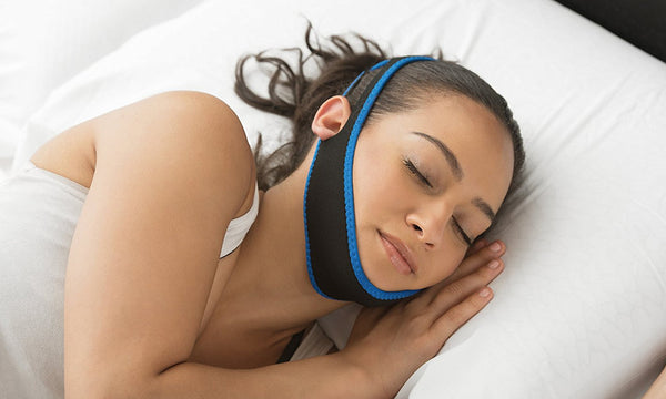 Anti Snoring Chin Strap Jaw Supporter Apnea Belt