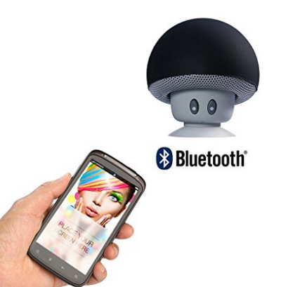 Mushroom-Shaped Portable Mini Bluetooth Speakers With Suction Sticker