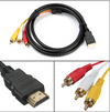 HDMI to RCA cable helps you connect your older electronics like DVD player, camera, dish TV