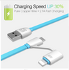 2-in-1 MFi and MicroUSB fast Charging Retractable Cable