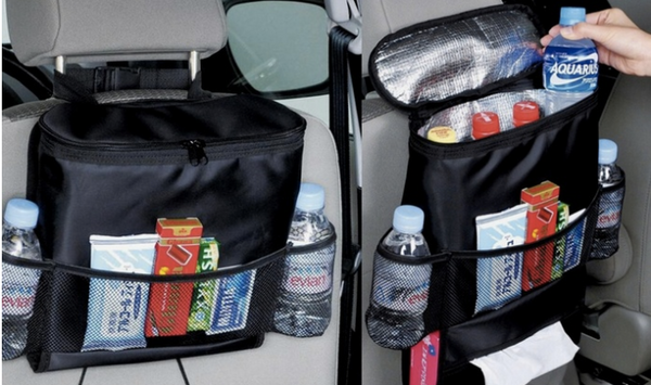Car Seat Organizer with Cooling Compartment