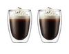 Double Walled Glass Coffee Mugs - 2 pack