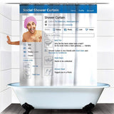 Social Shower Curtain ( Available in USA Only )